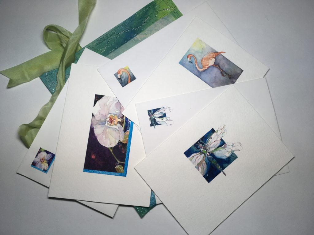 SP - Painted cards & envelopes